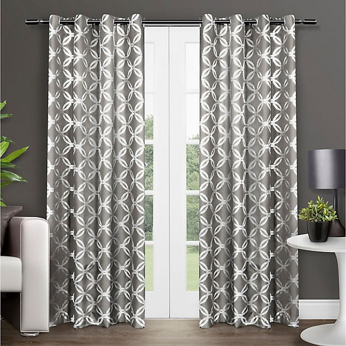 Alternate image 1 for Modo 84-Inch Grommet Top Window Curtain Panel Pair in Black Pearl