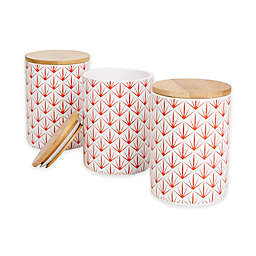Mind Reader Arrow Canisters in Red (Set of 3)