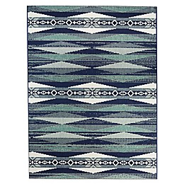 Miami Aztec Indoor/Outdoor Area Rug in Blue