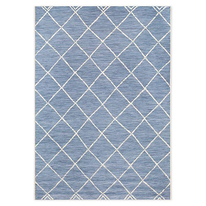 Alternate image 1 for Destination Summer Miami Moroccan 7'10 x 10' Rug in Blue