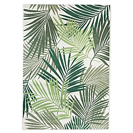 Destination Summer Miami Palm Indoor/Outdoor Area Rug in Green