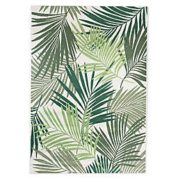 Miami Palm Indoor/Outdoor Area Rug in Green