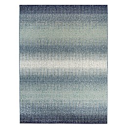 Destination Summer Miami Ombre Indoor/Outdoor Area Rug in Blue