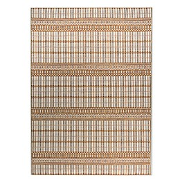 Destination Summer Miami Beach Stripes Indoor/Outdoor Rug in Orange