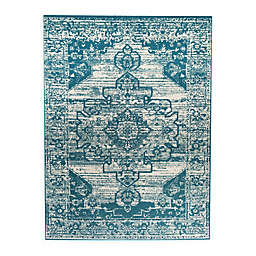 Bee & Willow™ Home Summer Lane Indoor/Outdoor Area Rug in Blue