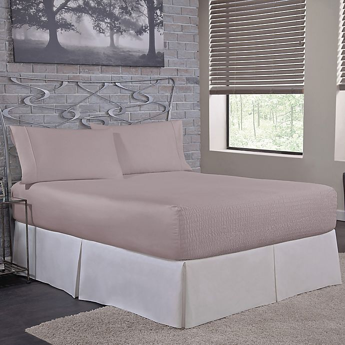Alternate image 1 for Bed Tite™ 1500-Thread-Count King Sheet Set in Silver