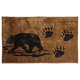 HiEnd Accents Bear Print Bath Rug in Brown