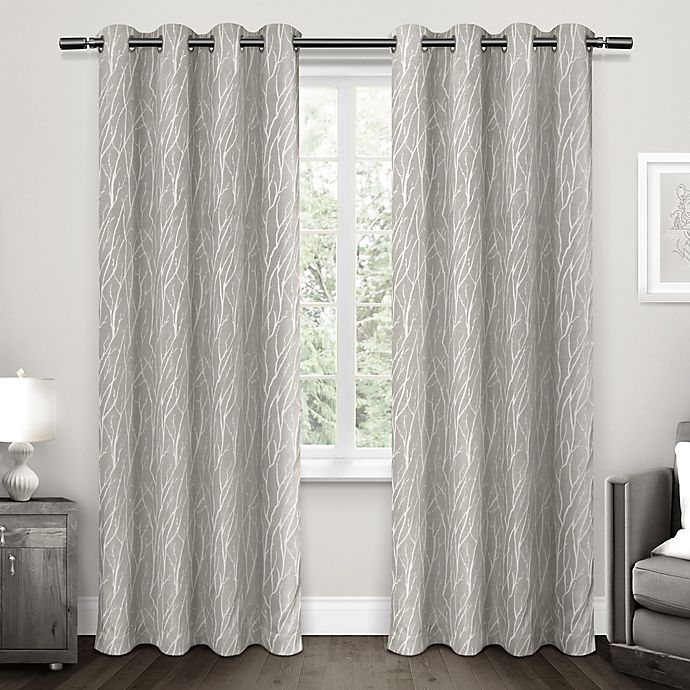 Alternate image 1 for Forest Hill Grommet Top Room Darkening Window Curtain Panel Pair