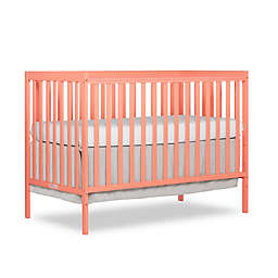 Dream On Me Synergy 5-in-1 Convertible Crib in Coral
