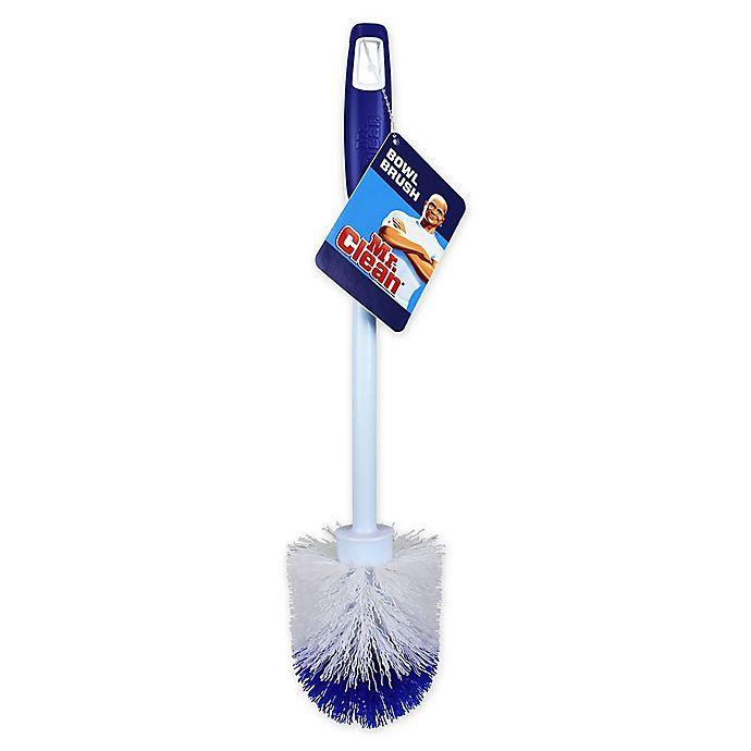 Alternate image 1 for Mr. Clean® Round Toilet Bowl Brush in Blue/White