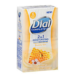 Dial Complete® 6-Count 2-in-1 Moisturizing and Antibacterial Beauty Bar with Manuka Honey