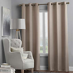 Hartsville Textured 4-Pack Grommet Window Curtain Panel Set