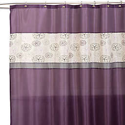 Covina Purple And Ivory 72 Inch X Shower Curtain