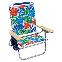 The Genuine Beach Bum Tropical Flower Print Chair