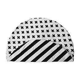 Monochrome Stripe & Cross Reversible Play Mat