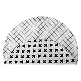 Monochrome Cross & Grid Reversible Play Mat
