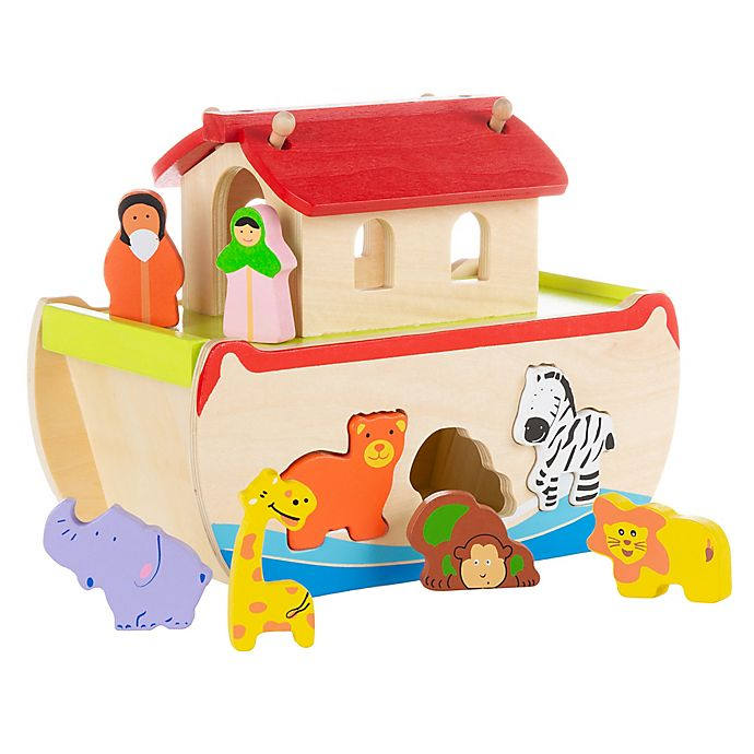 Alternate image 1 for Hey! Play! Noah's Ark  8-Piece Play Set