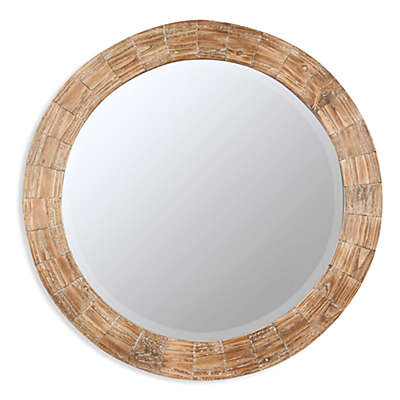 Cooper Classics Kettler Round Wood-Frame Mirror