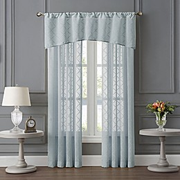 Tiburon Sheer Window Curtain Panels and Valance