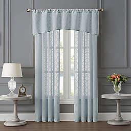 Tiburon Sheer Window Curtain Panels and Valance