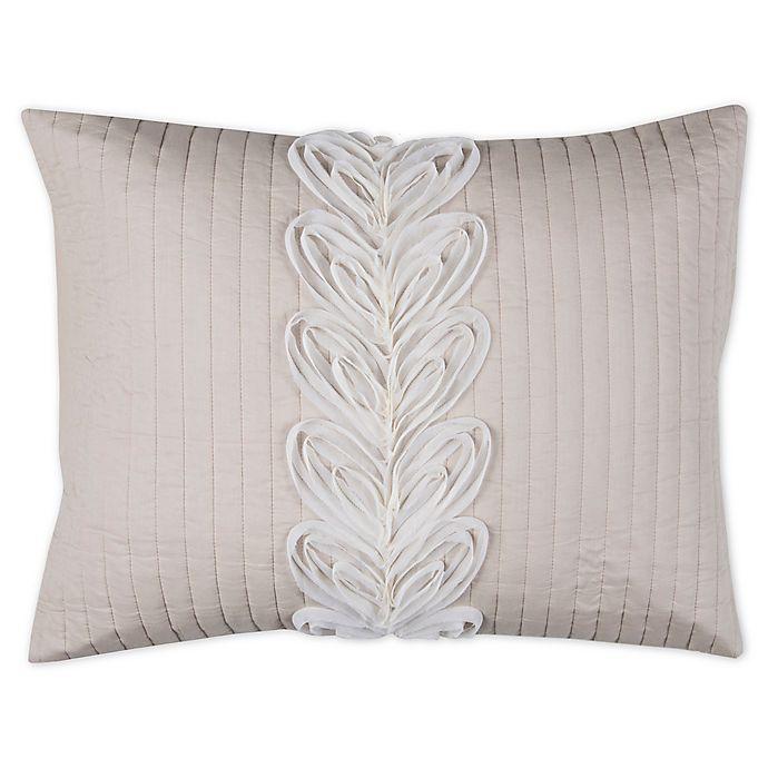 Alternate image 1 for Rizzy Home Adela King Pillow Sham in Ivory