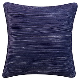 Tracy Porter® Harper Crinkle Velvet Throw Pillow in Navy