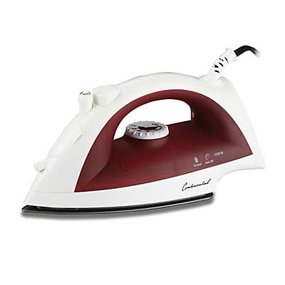 Continental Electric 3-Way Burst Steam Iron in Red