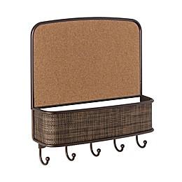 iDesign® Twillo Wall Mount Corkboard Mail Center in Bronze