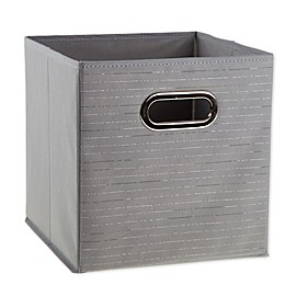 Relaxed Living 11-Inch Collapsible Bin in Silver Foil