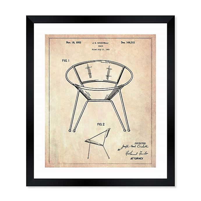 Alternate image 1 for Oliver Gal™ Chair 1952 Blueprint 15-Inch x 18-Inch Framed Wall Art