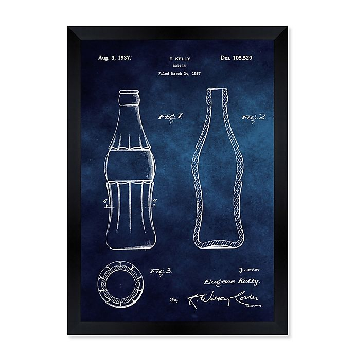 Alternate image 1 for Oliver Gal™ 1937 Coca Cola Bottle 15-Inch x 18-Inch Framed Wall Art in Black
