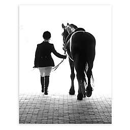 Colossal Images    A Girl and Her Horse Canvas Wall Art