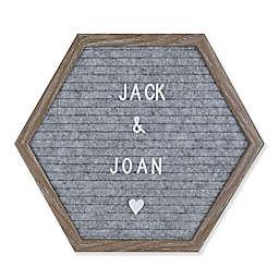 12-Inch x 10.3-Inch Felt Letters Memo Board in Grey