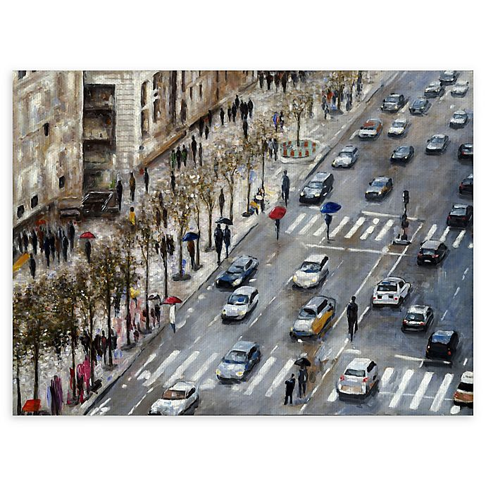 Alternate image 1 for Champs Elysees 30-Inch x 40-Inch Canvas Wall Art