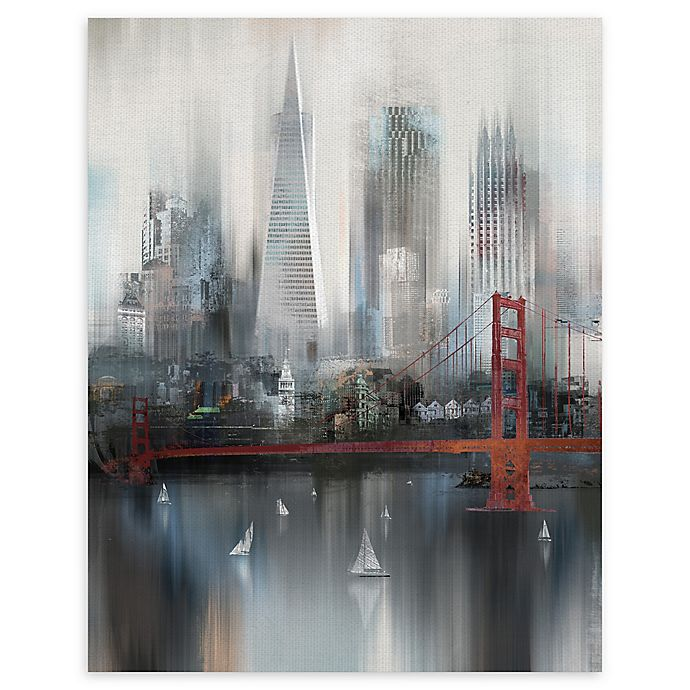 Alternate image 1 for Masterpiece Art Gallery Cityscape San Francisco 22-Inch x 28-Inch Canvas Wall Art