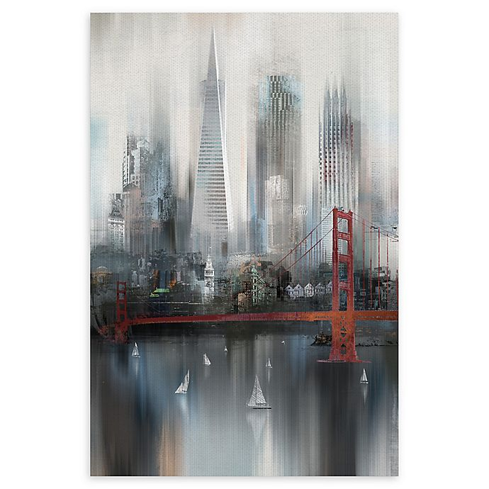 Alternate image 1 for Masterpiece Art Gallery Cityscape San Francisco 24-Inch x 36-Inch Canvas Wall Art