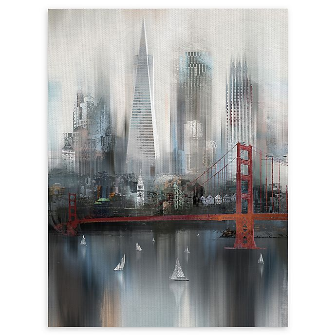 Alternate image 1 for Masterpiece Art Gallery Cityscape San Francisco 30-Inch x 40-Inch Canvas Wall Art