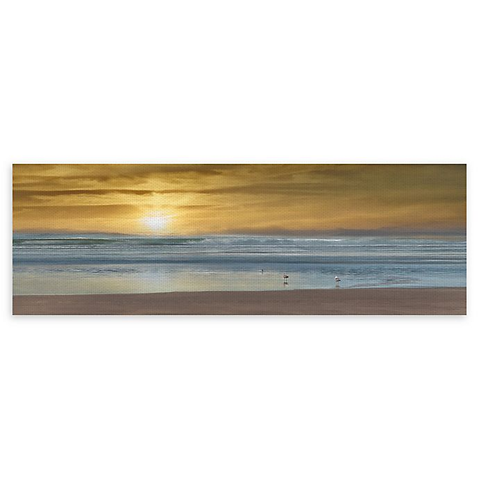 Alternate image 1 for Masterpiece Art Gallery Wading 16-Inch x 48-Inch Canvas Wall Art