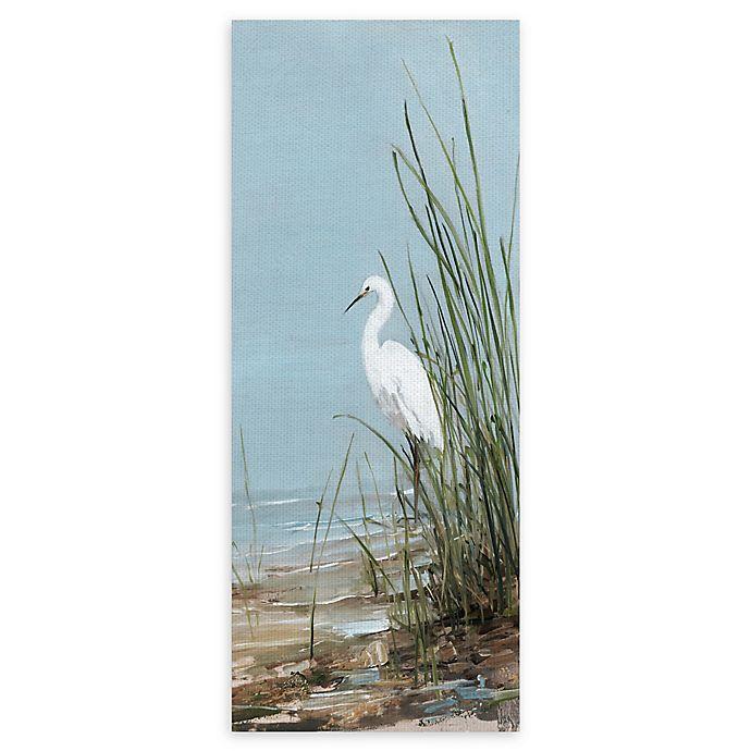 Alternate image 1 for Masterpiece Art Gallery White Shorebird II 8-Inch x 20-Inch Canvas Wall Art