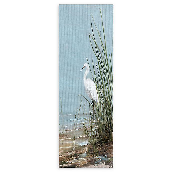 Alternate image 1 for Masterpiece Art Gallery White Shorebird II 12-Inch x 36-Inch Canvas Wall Art
