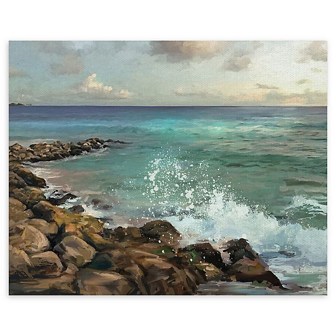 Alternate image 1 for Masterpiece Art Gallery Rocky Shore 30-Inch x 40-Inch  Canvas Wall Art
