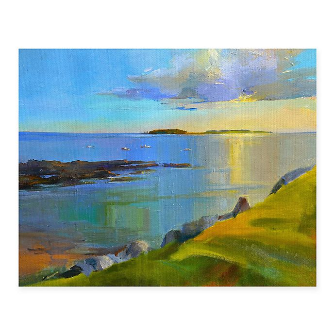Alternate image 1 for Masterpiece Art Gallery Kettle Cove Boats 22-Inch x 28-Inch Canvas Wall Art