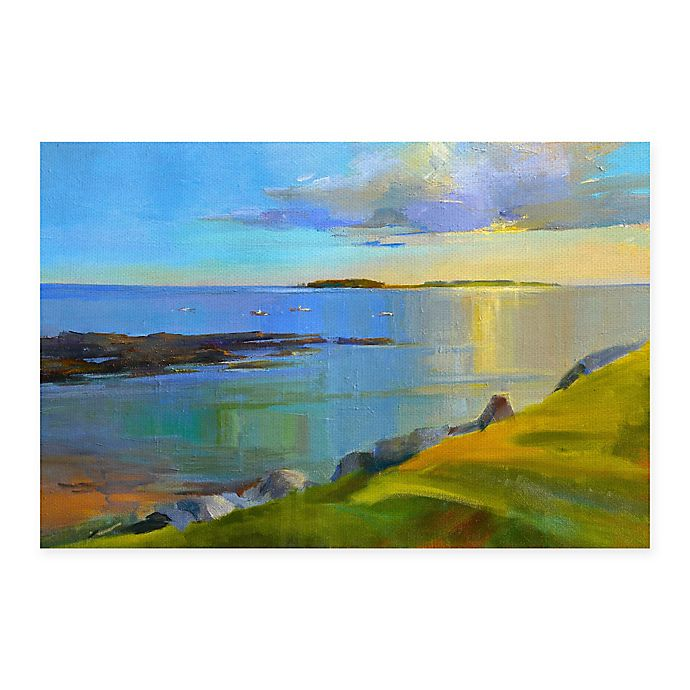 Alternate image 1 for Masterpiece Art Gallery Kettle Cove Boats 24-Inch x 36-Inch Canvas Wall Art
