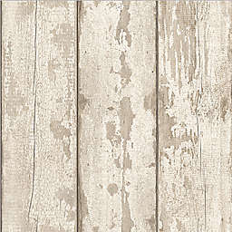 Arthouse Whitewashed Wood Wallpaper in White