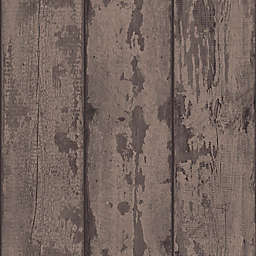 Arthouse Wood Plank Wallpaper in Mahogany