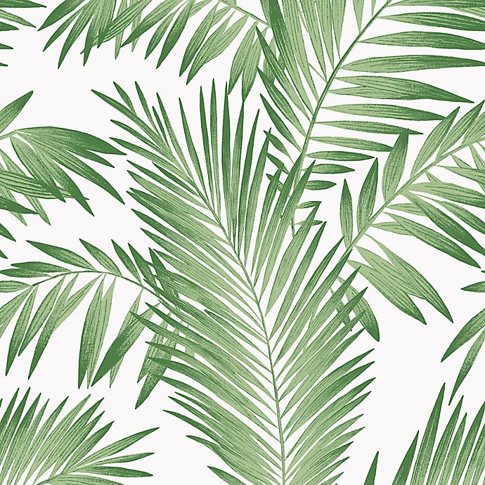 Arthouse Tropical Palm Wallpaper In Green Bed Bath Beyond