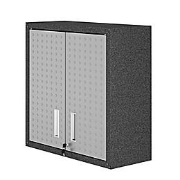 Manhattan Comfort Fortress Floating Garage Cabinet in Grey