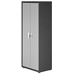 Manhattan Comfort Fortress Tall Hashmark Garage Cabinet in Grey