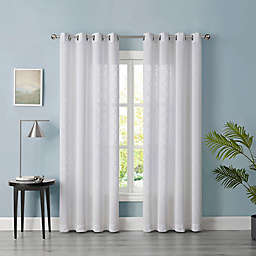 Tiburon Sheer 63-Inch Grommet Window Curtain Panel in White