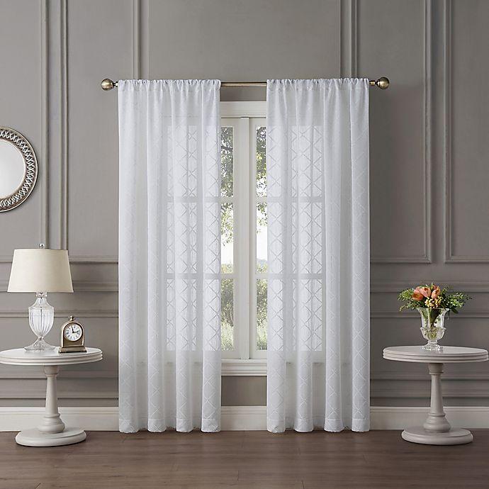 Tiburon Sheer Rod Pocket Window Curtain Panel Bed Bath And Beyond Canada